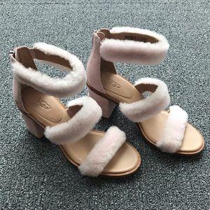 UGG Del Rey Fluff Heeled Sandal (Never Worn)